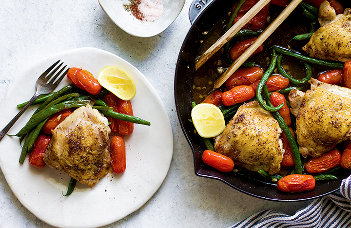 Skillet Chicken with Tomatoes & Green Beans