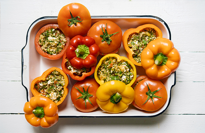 Gemista (Stuffed Tomatoes & Peppers)